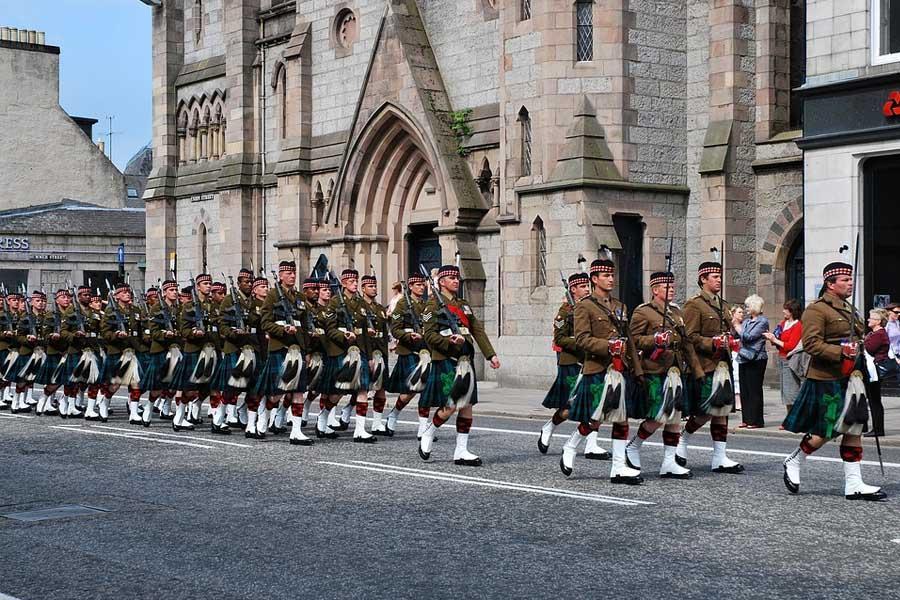 Calles de Aberdeen, Escocia