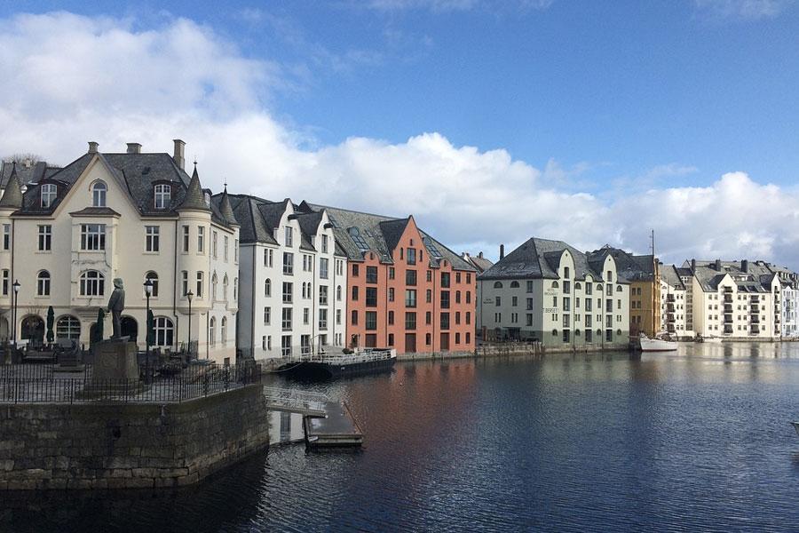 Art Nouveau Town alesund noruega