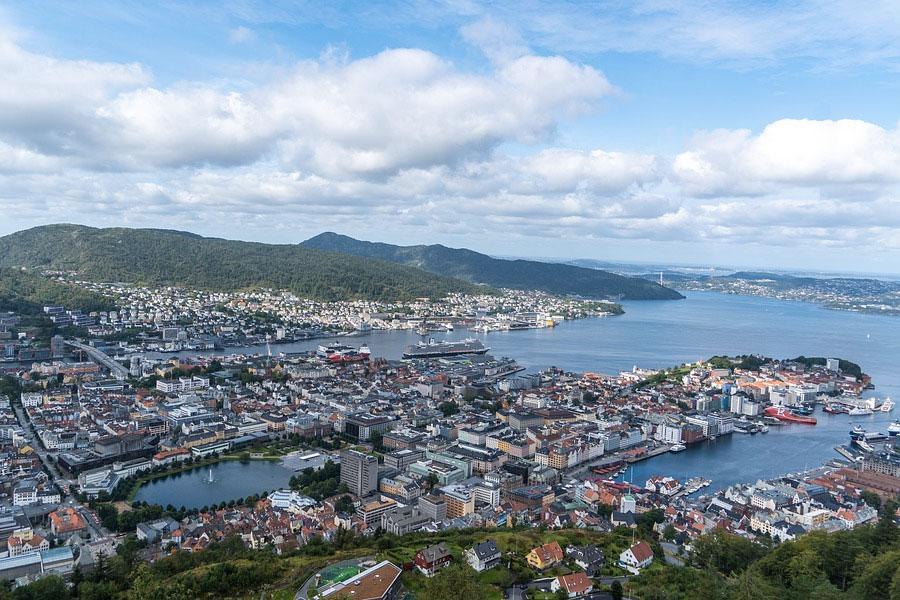 panoramica bergen noruega funicular