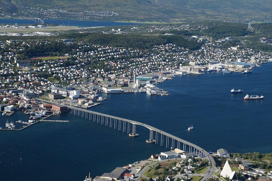 panoramica teleferico de tromso noruega